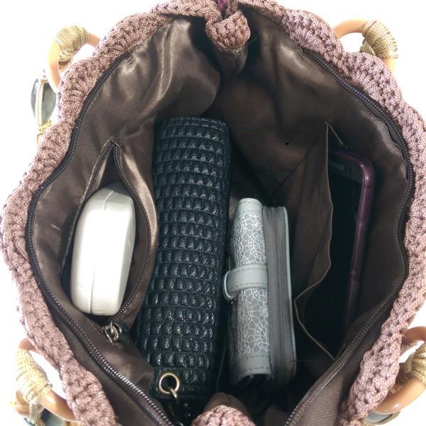 Multi color handmade crochet bag double shoulder strap
