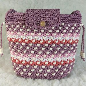 Handmade crochet cross-body Thai bags