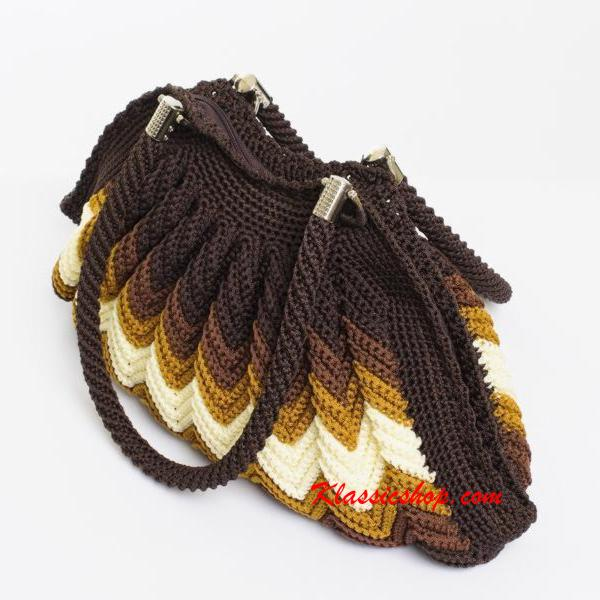 Multi color handmade crochet bags double shoulder strap