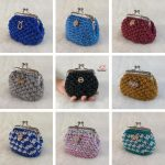 Many different color mini crochet coin purses